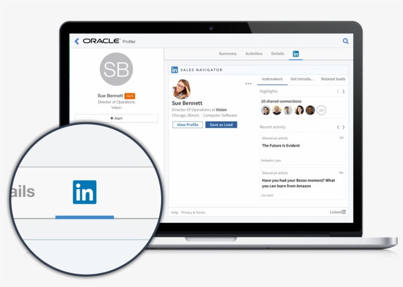 Information From Linkedin Sales Navigator Is Easy Accessible.