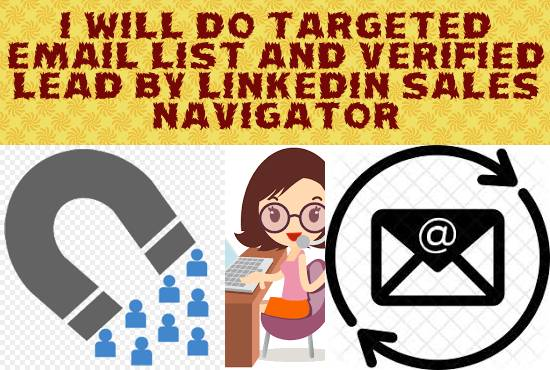 do targeted email list and verified lead generation.