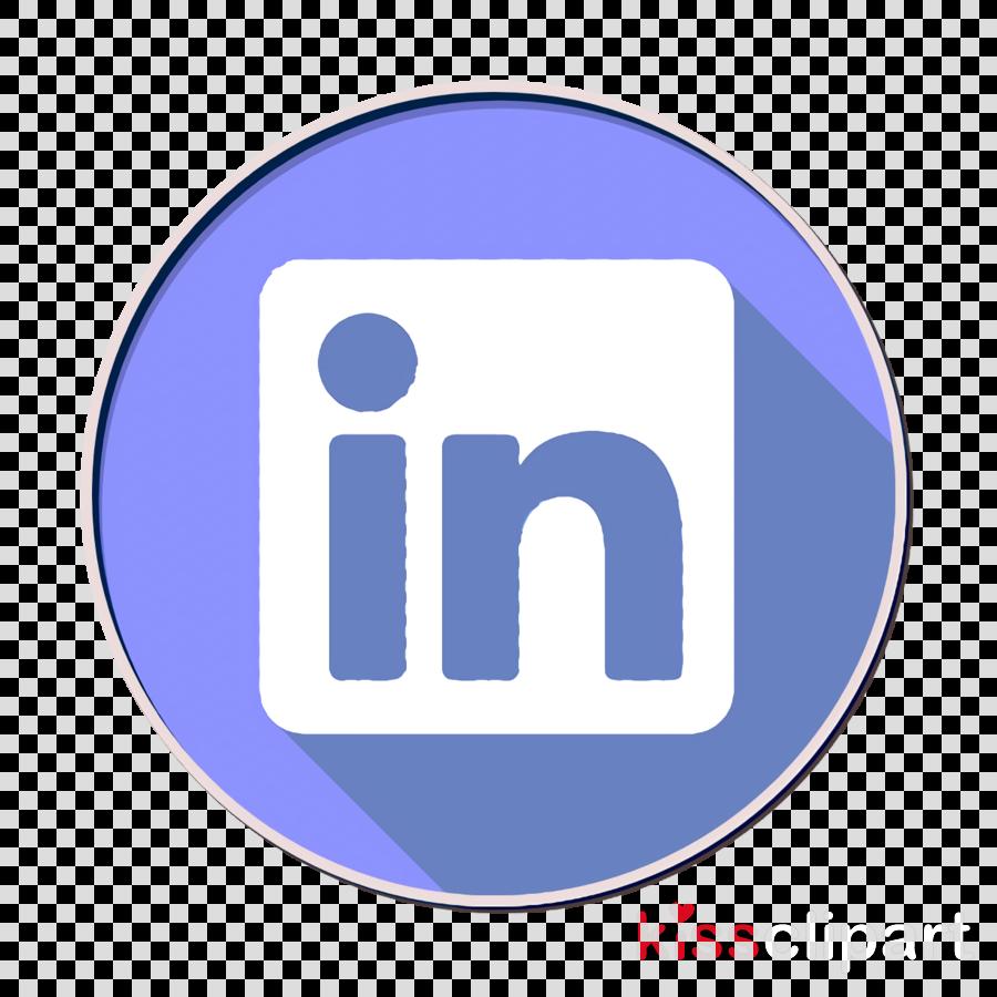 Linkedin icon Social media icons icon clipart.