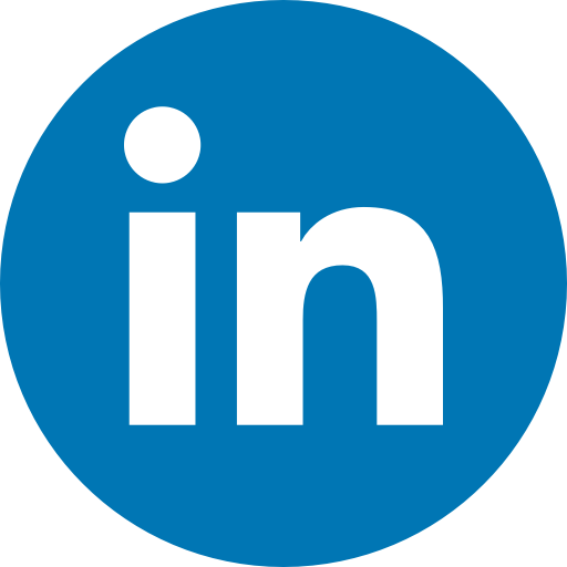 Circle, linkedin, logo, media, network, share, social icon.