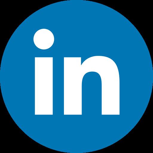 Circle, linkedin, logo, media, network, share, social icon.