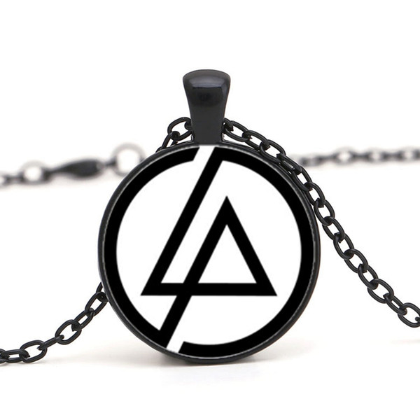 Wholesale 2017 Fashion Fans Linkin Park Logo Necklace Jewelry 25MM Dome  Glass Lincoln Park Band Pendant Necklaces For Men Party Gifts Chain Choker.