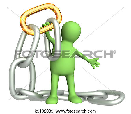 Clip Art of 3d critical link k10080902.