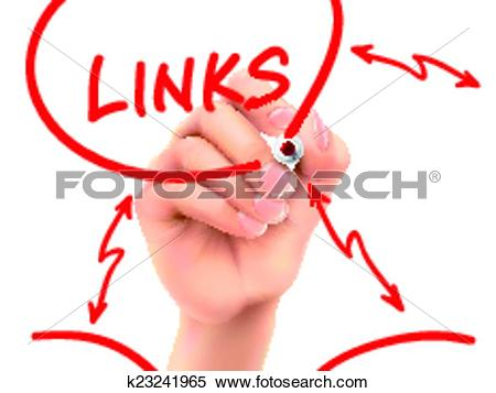 Clipart of links word written by hand k23241965.