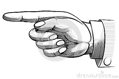 Hand pointing left clipart.