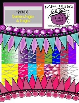 Beautiful Beaded Pages and Banners {Digital Clipart.