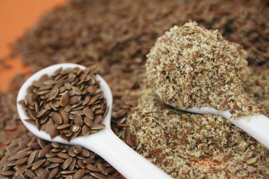 Flaxseed meal and heart health….a dynamic duo.