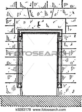 Clip Art of Lintel, vintage engraving k9283178.