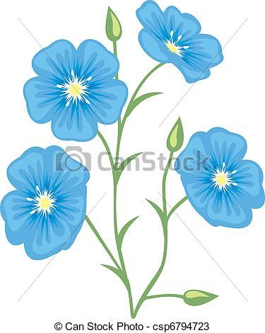Vectors of Flower of flax (Linum usitatissimum) csp6794723.