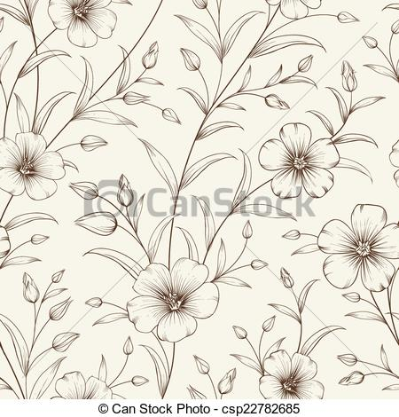 Vector of Linum pattern..