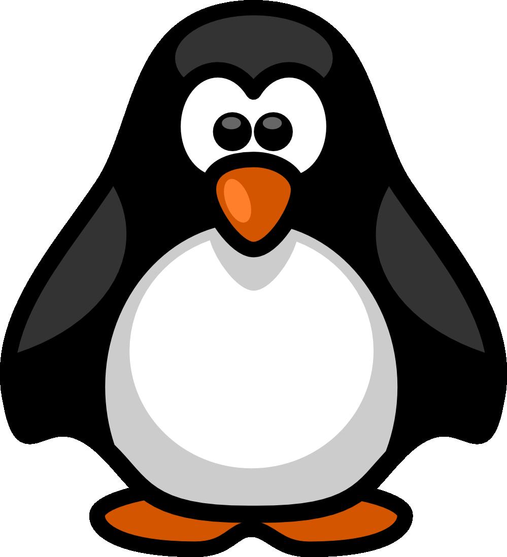 Linux penguin clip art.