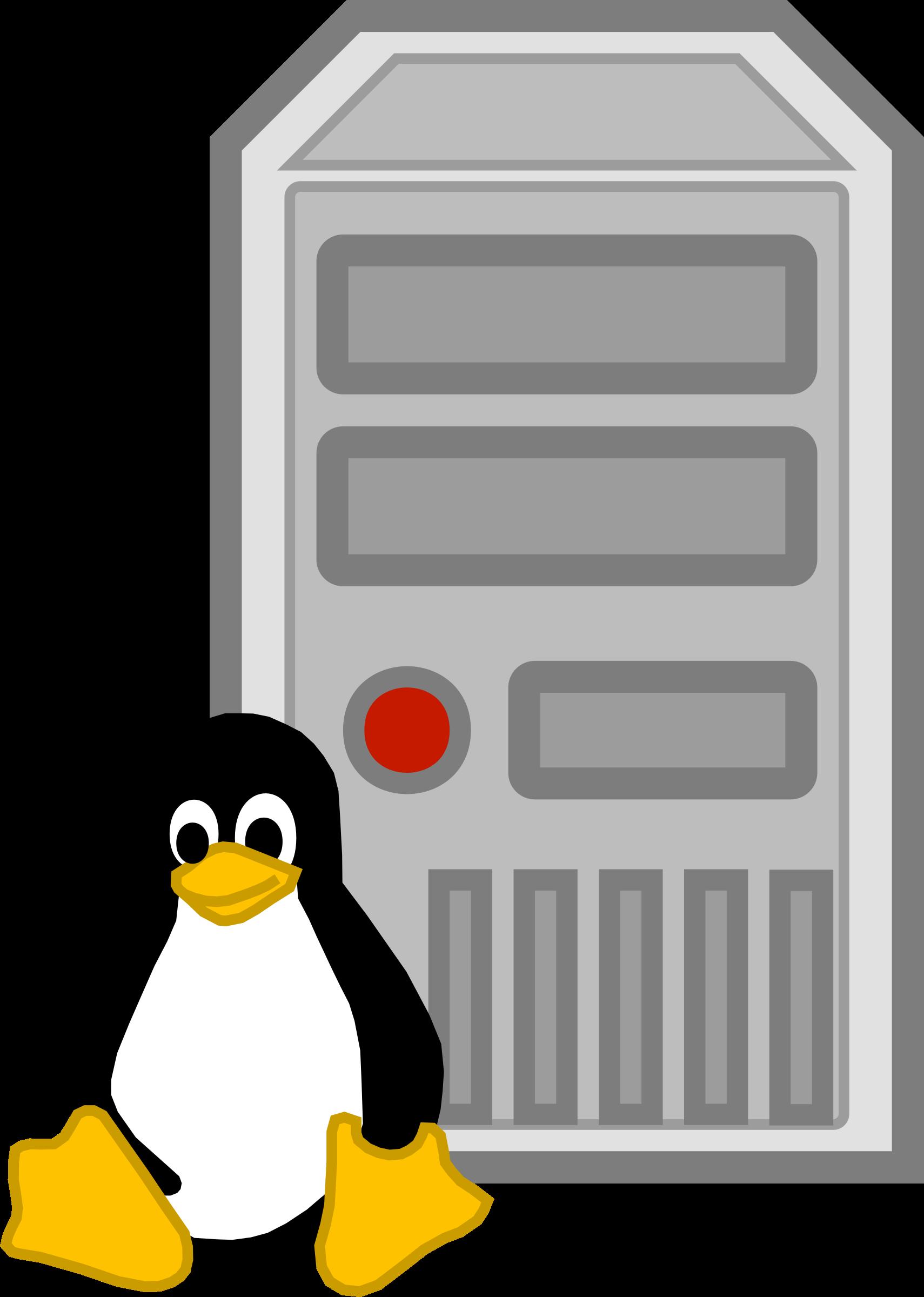 Linux Computer Clipart.