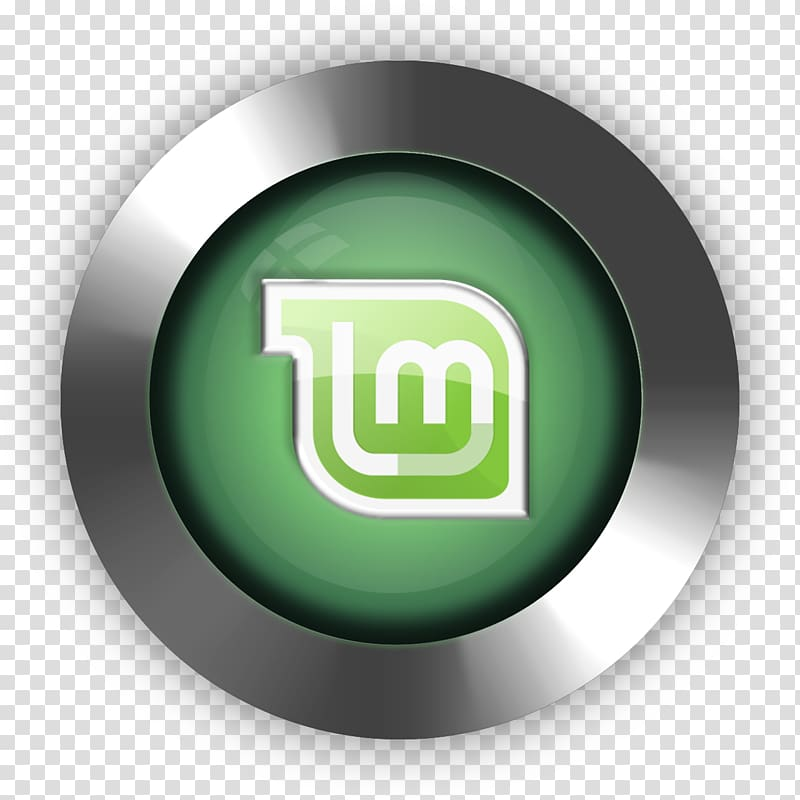 Round gray and green logo illustration, Linux Mint.