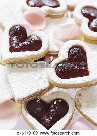 Stock Photograph of Linzer Torte Cookies x75179109.