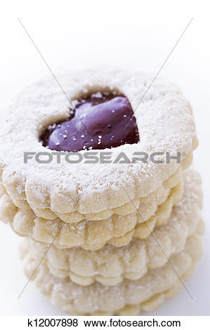 Pictures of Linzer Torte Cookies k12007898.