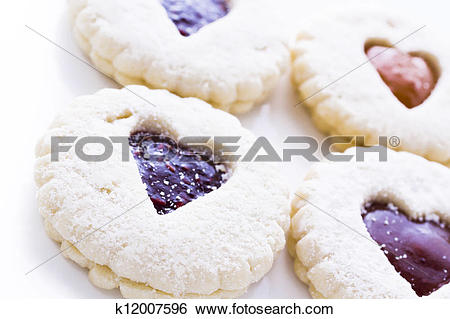 Stock Images of Linzer Torte Cookies k12007596.