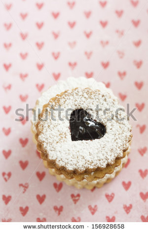Linzer Cookies Stock Photos, Royalty.