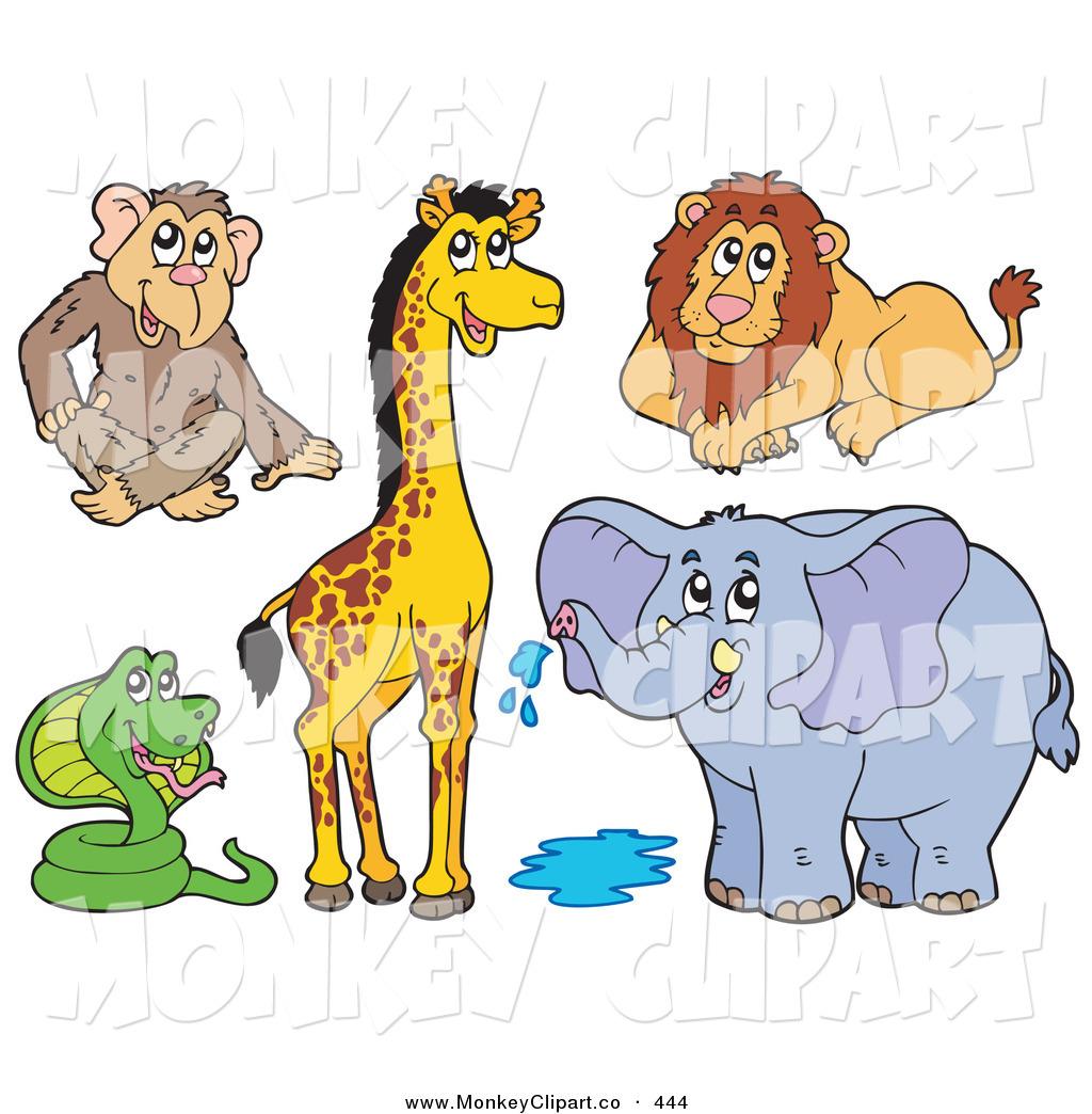 Royalty Free Stock Monkey Designs of Elephants.