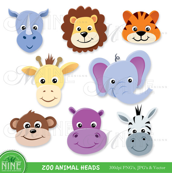 lion and elephant clipart #13