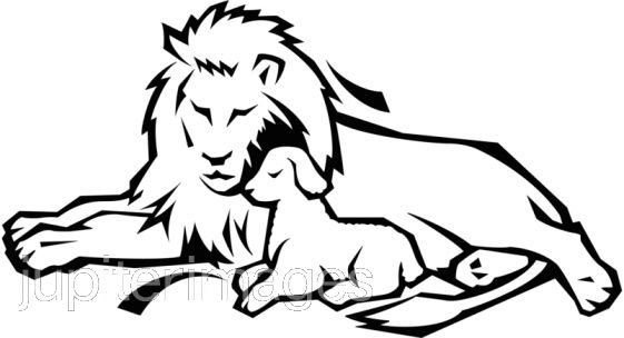 Lion And Lamb Clipart.