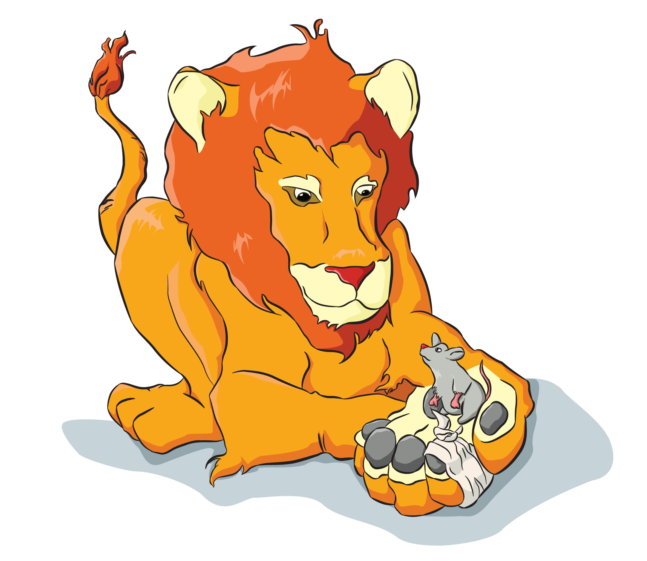 lion and the mouse clipart #15