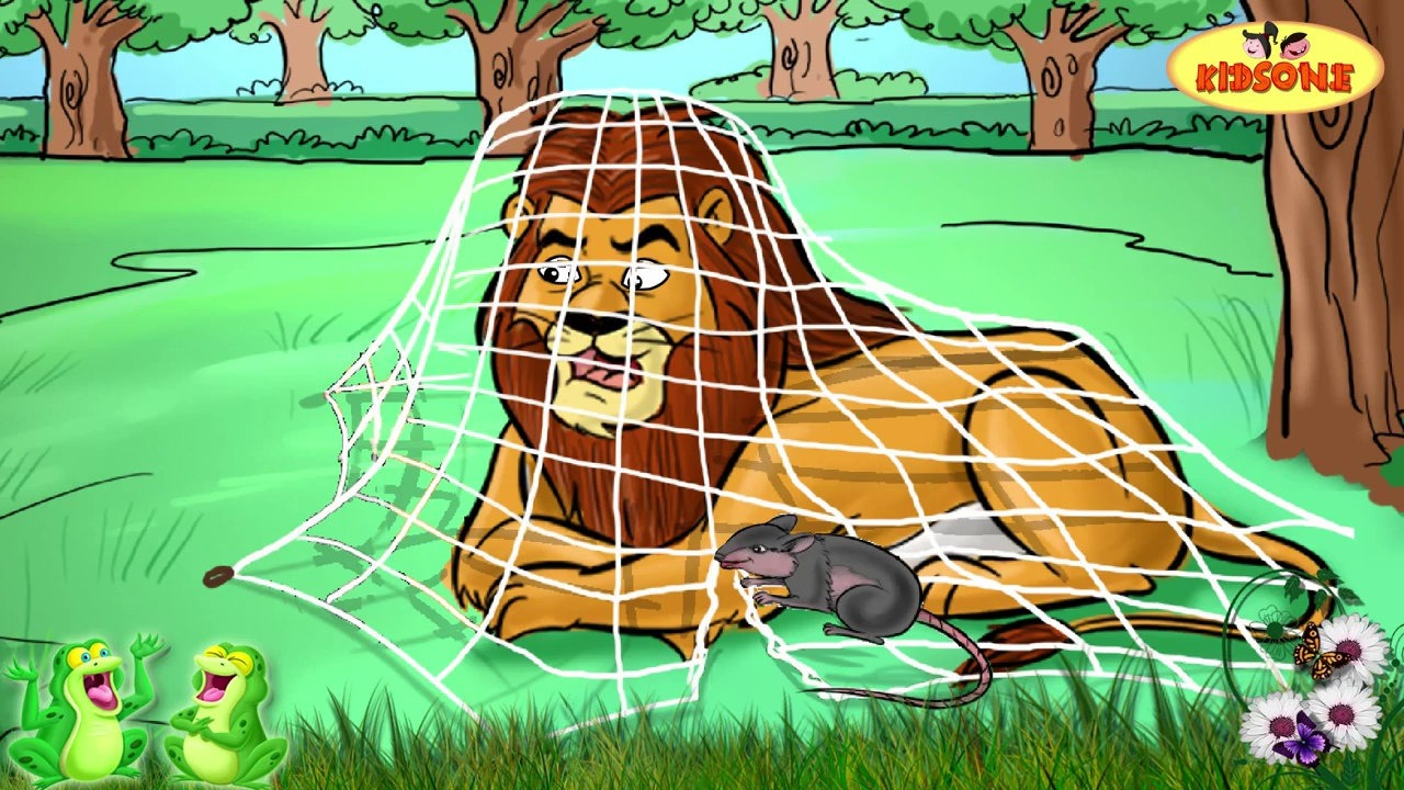 lion and the mouse clipart #14