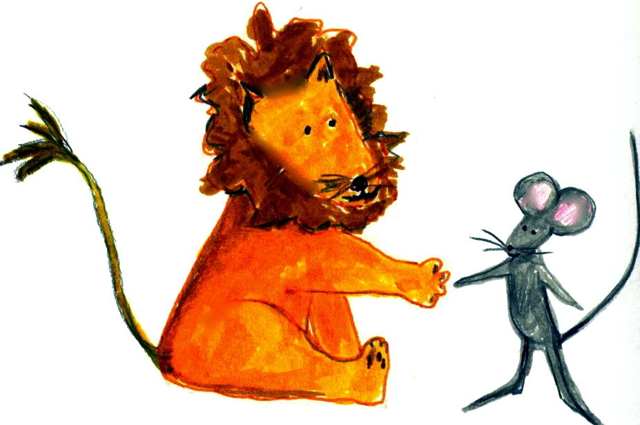 lion and the mouse clipart #11