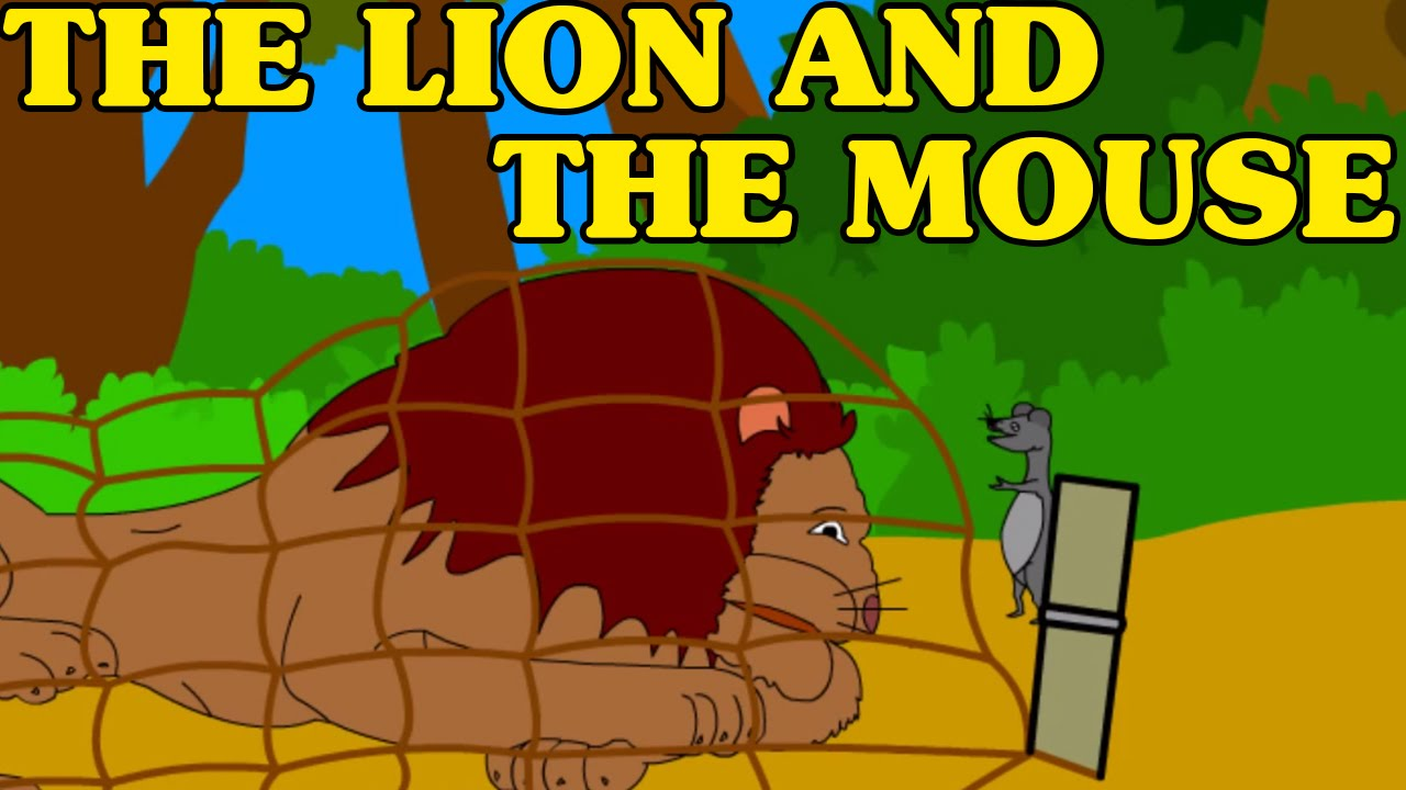 lion and the mouse clipart #9