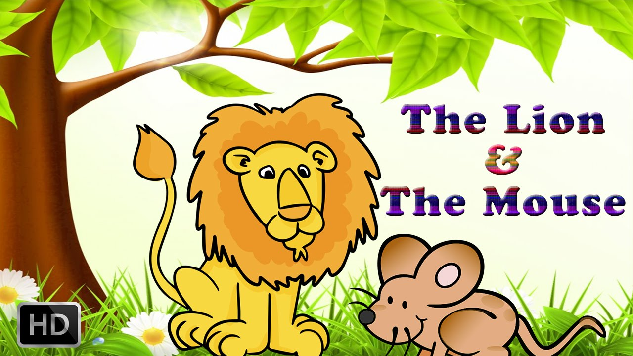 lion and the mouse clipart #7