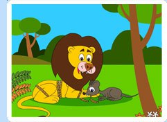 lion and the mouse clipart #6