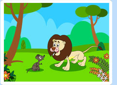 lion and the mouse clipart #5