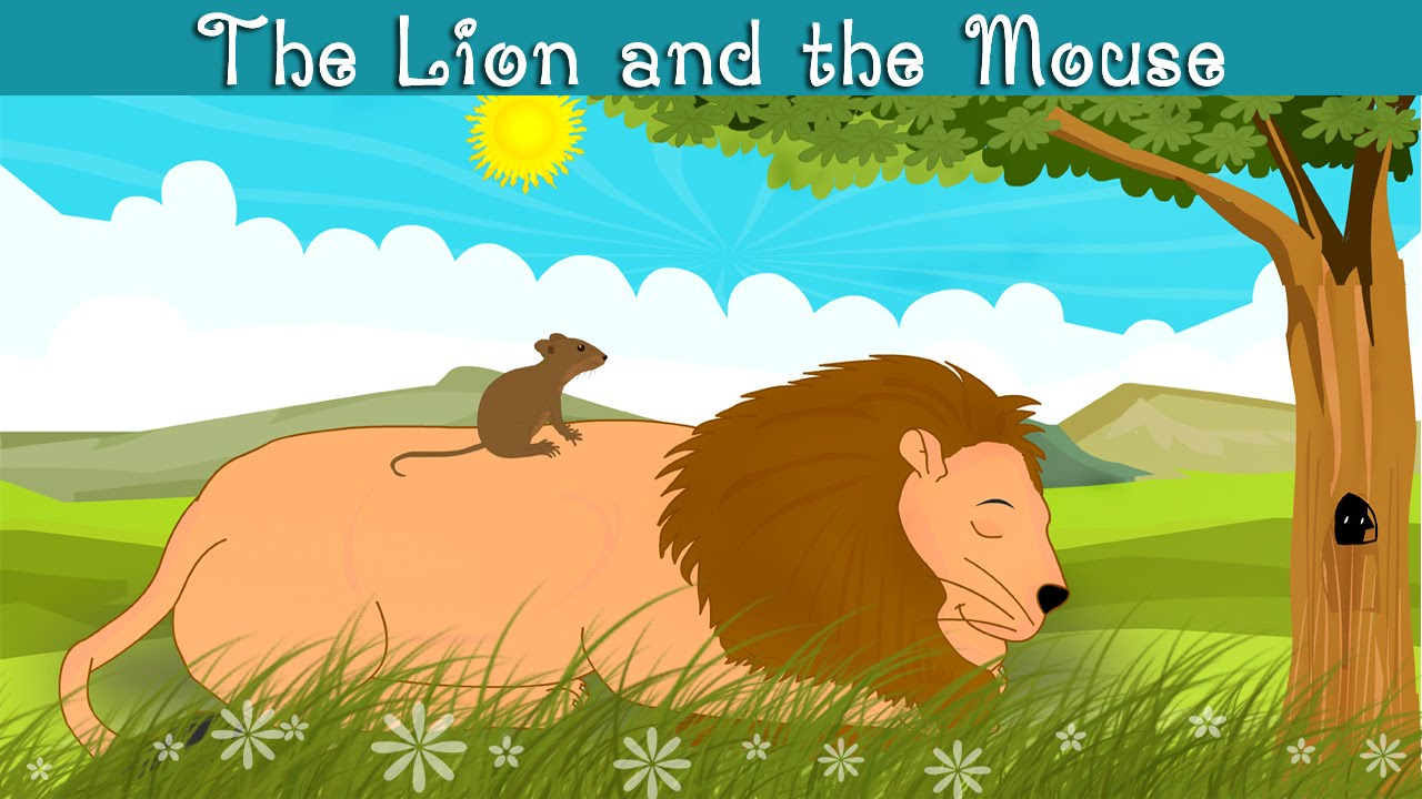 lion and the mouse clipart #3
