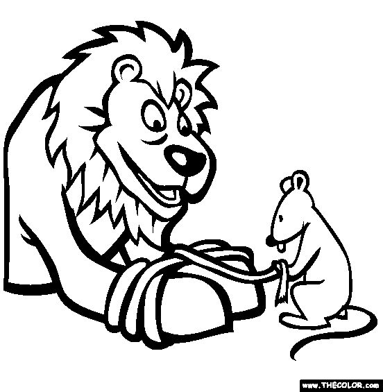 lion and the mouse clipart #20