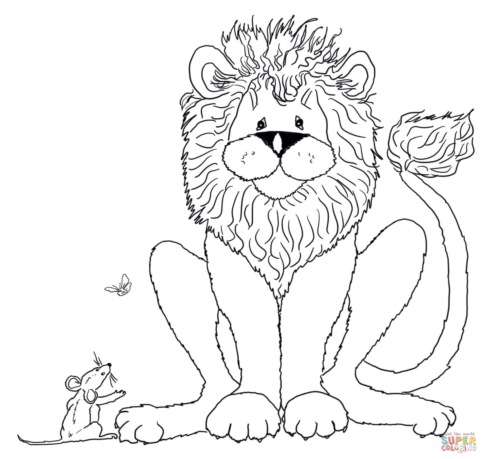 lion and the mouse clipart #17