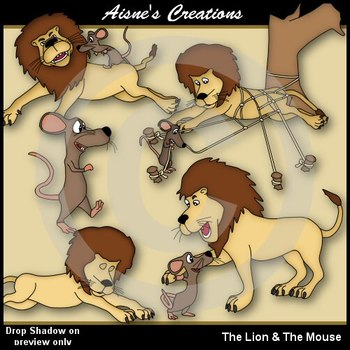 lion and the mouse clipart #19