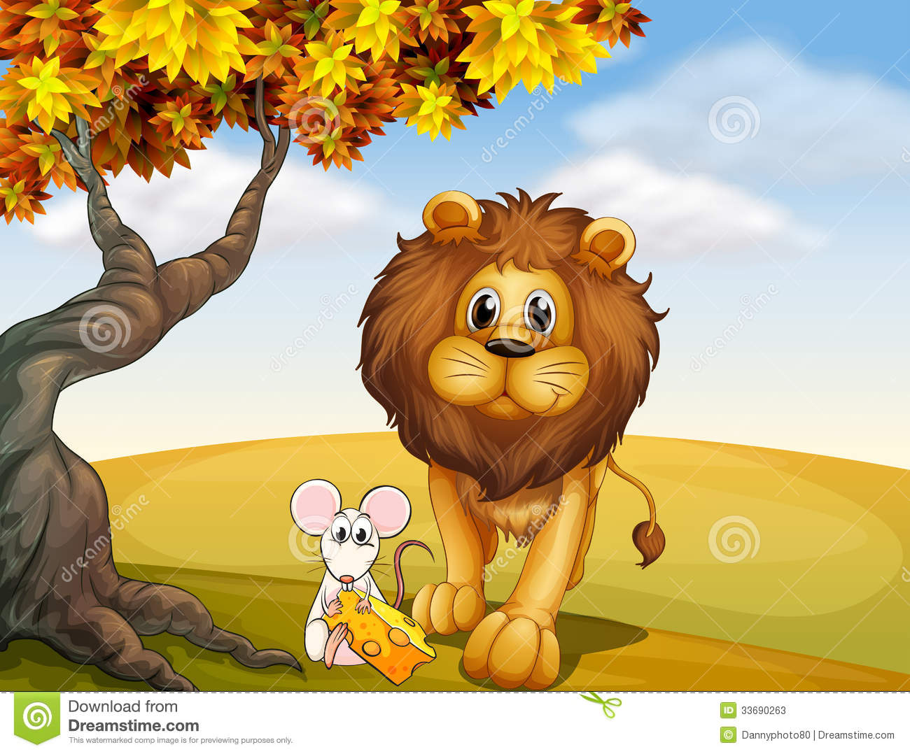 lion and the mouse clipart #18