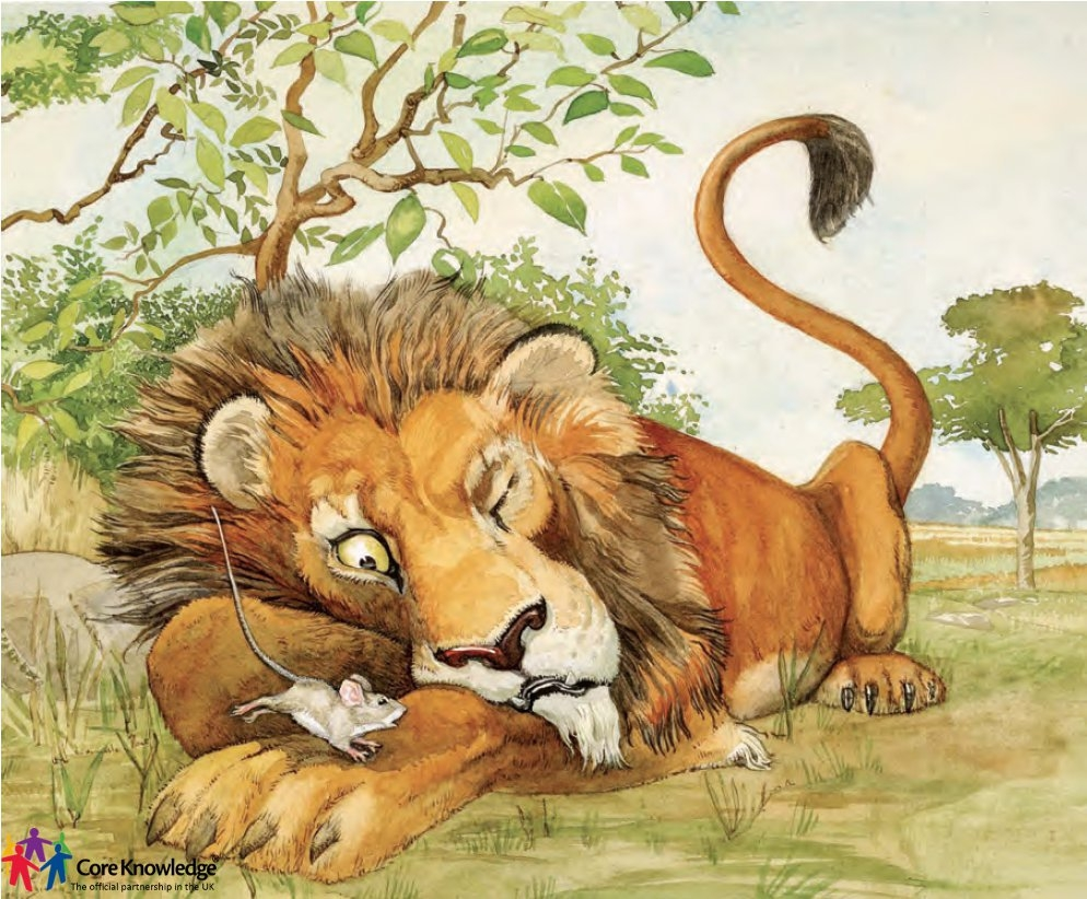 lion and the mouse clipart #10