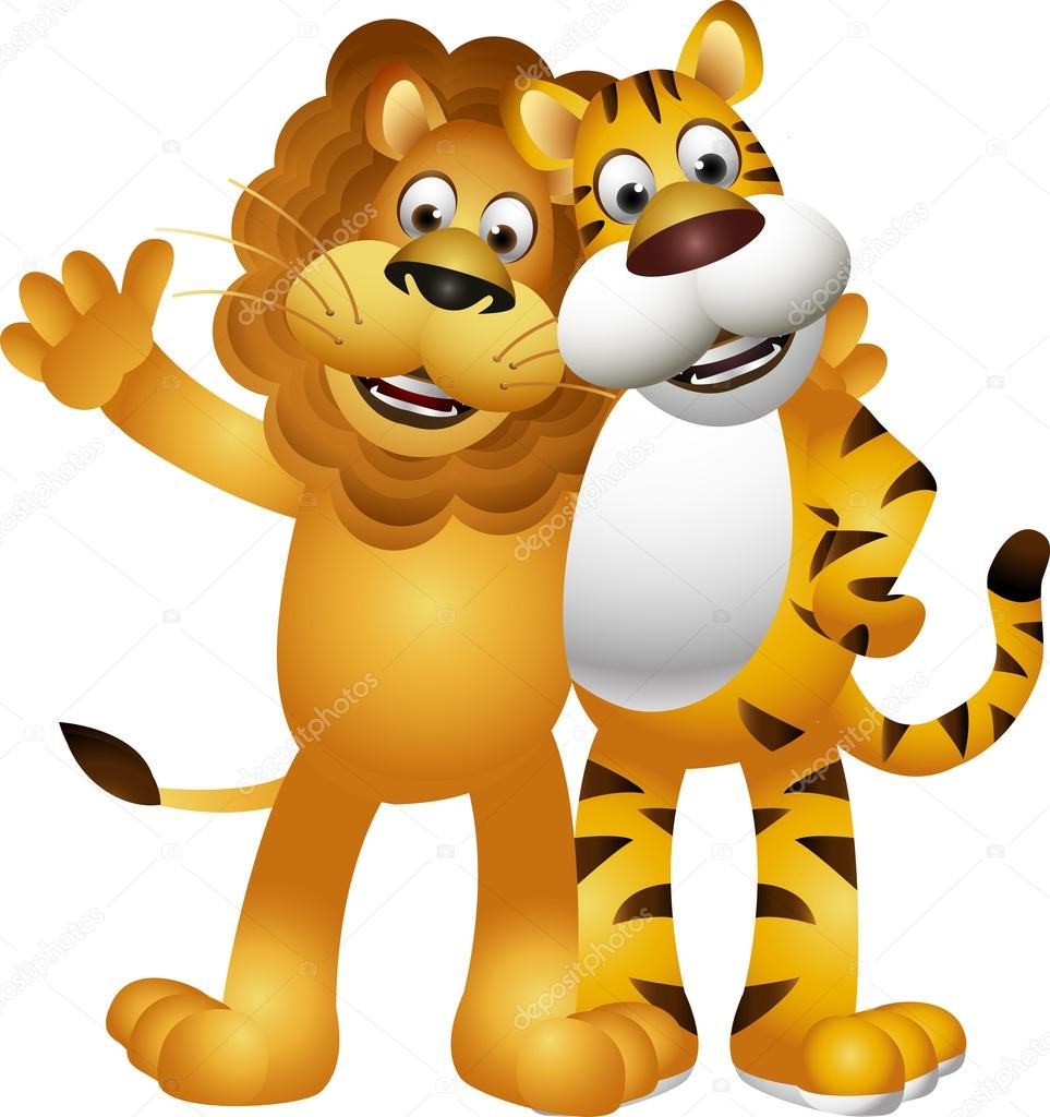 lion and tiger clipart #2
