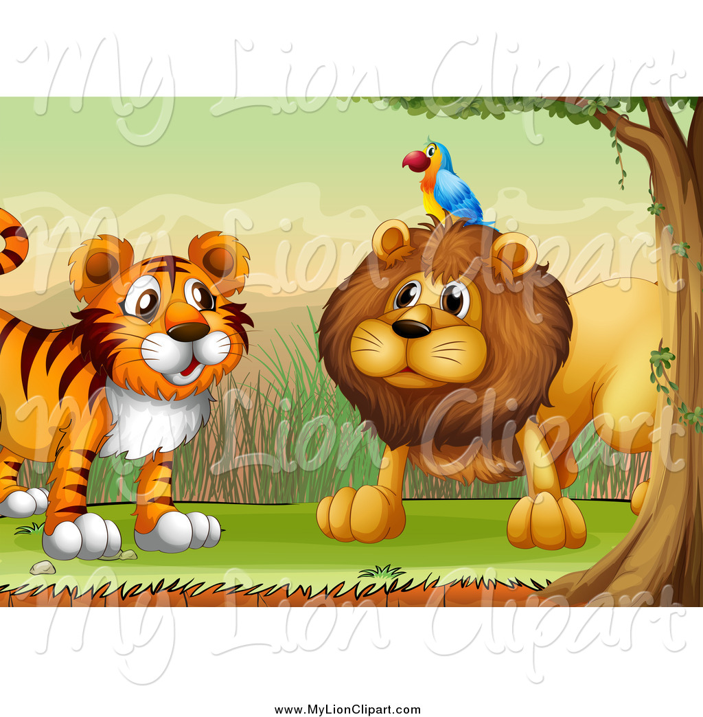 Royalty Free Stock Lion Designs of Tigers.