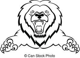Vector Illustration of lion attack csp11178225.