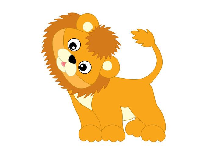 lion baby clipart #7