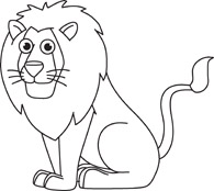Lion Clipart Black And White & Lion Black And White, Lion Black.