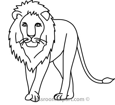 Free Lion Clipart Black And White.