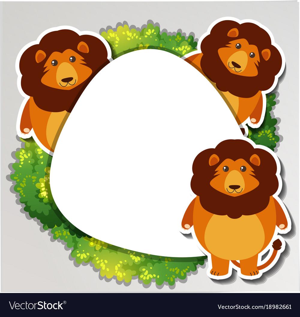 Three lions around the border.