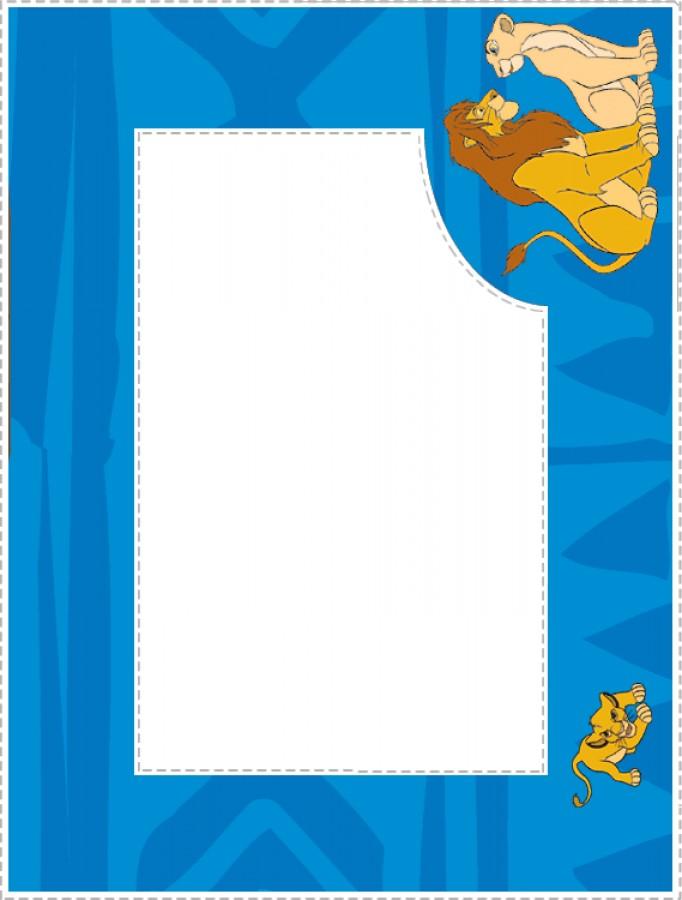 Exclusive Lion Print Border Clip Art Layout.