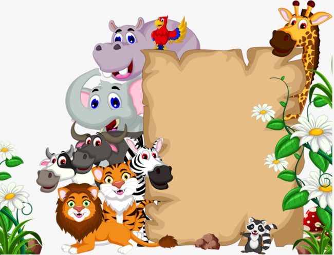 Animal Border, Animal Clipart, Animal World, Lion PNG.