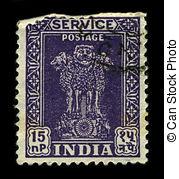 Picture of Postage stamp India 1957 Lion Capital of Ashoka Pillar.