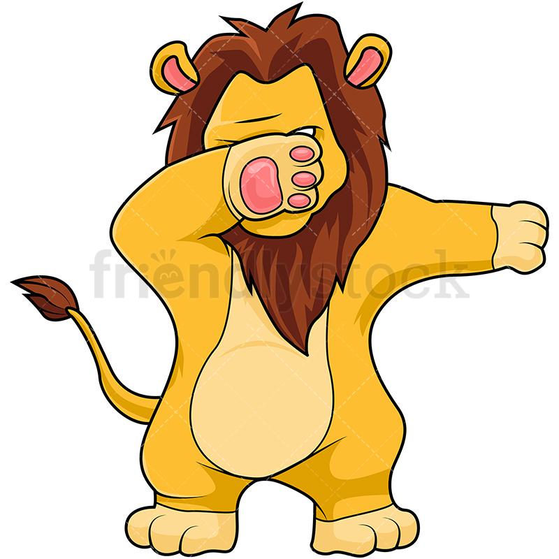A Dabbing Lion.