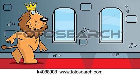 Clip Art of King Lion Castle k4088908.
