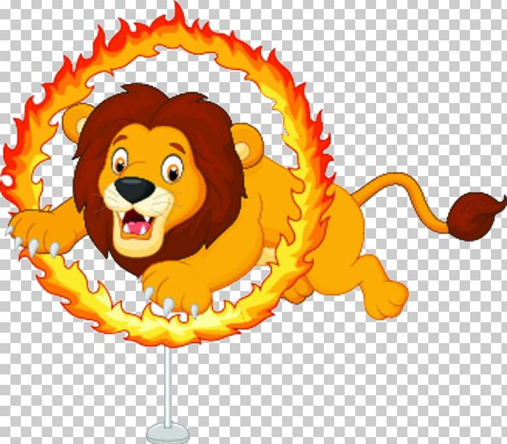 Lion Cartoon Circus Illustration PNG, Clipart, Acrobatics.